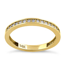 Load image into Gallery viewer, Solid 14K Yellow Gold Half Eternity 0.28 ct. Diamond Ring