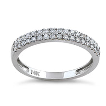 Load image into Gallery viewer, Solid 14K White Gold Double Row 0.42 ct. Diamond Ring