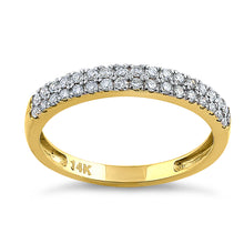 Load image into Gallery viewer, Solid 14K Yellow Gold Double Row 0.42 ct. Diamond Ring