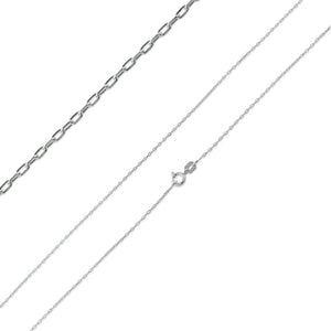 "Sterling Silver 24"" Forz D/C Chain Necklace - 0.95mm"