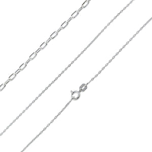 "Sterling Silver 16"" Forz D/C Chain Necklace - 1.3mm"