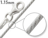 Load image into Gallery viewer, Sterling Silver Glitter Snake Chain 1.15mm