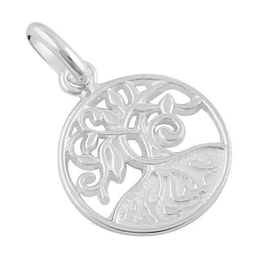 Sterling Silver Thick Root Tree of Life Pendant