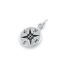 Load image into Gallery viewer, Sterling Silver Compass Pendant