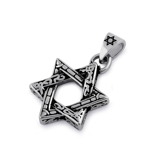 Stainless Steel Pattern Star of David