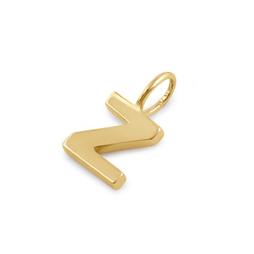 Solid 14K Gold Z Initial Pendant