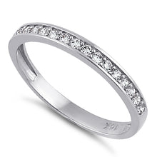 Load image into Gallery viewer, Solid 14K White Gold Half Eternity Wedding Band