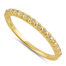 Load image into Gallery viewer, Solid 14K Gold CZ Half Eternity CZ Ring