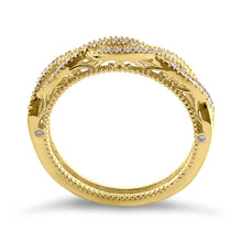 Load image into Gallery viewer, Solid 14K Yellow Gold Classic Twist CZ Ring