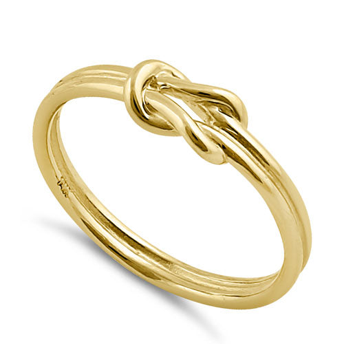 Solid 14K Gold Double Knot Rope Ring
