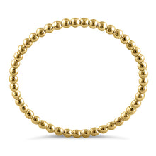 Load image into Gallery viewer, Solid 14K Yellow Gold Thin Beaded Ring