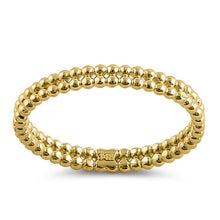 Load image into Gallery viewer, Solid 14K Yellow Gold Stacked Bead Ring