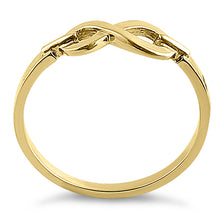 Load image into Gallery viewer, Solid 14K Yellow Gold Infinity Promise Ring