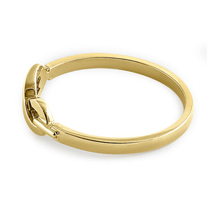 Solid 14K Yellow Gold Infinity Promise Ring