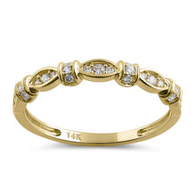 Load image into Gallery viewer, Solid 14K Yellow Gold Half Eternity Round Marquise CZ Ring