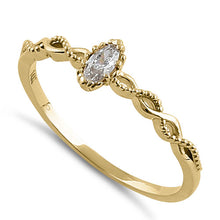 Load image into Gallery viewer, Solid 14K Yellow Gold Elegant Marquise CZ Ring