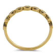 Load image into Gallery viewer, Solid 14K Yellow Gold Thin Half Eternity CZ Ring