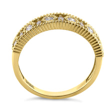 Load image into Gallery viewer, Solid 14K Yellow Gold Alternating Round Cut CZ Ring
