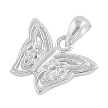 Load image into Gallery viewer, Sterling Silver Celtic Butterfly Twist Pendant