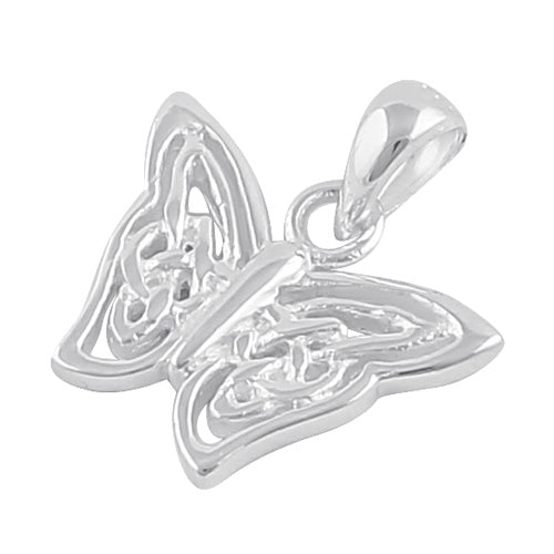 Sterling Silver Celtic Butterfly Twist Pendant