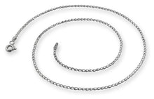 Load image into Gallery viewer, Rhodium Sterling Silver Long Curb Chain 1.4mm