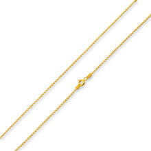 Load image into Gallery viewer, 14k Gold Plated Sterling Silver Long Curb Chain 1.2mm