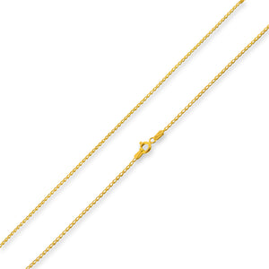 14k Gold Plated Sterling Silver Long Curb Chain 1.2mm