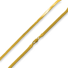Load image into Gallery viewer, Gold Plated Sterling Silver Magic Herringbone Chain 4.5MM