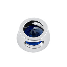 Load image into Gallery viewer, Sterling Silver Round Blue Spinel CZ Pendant