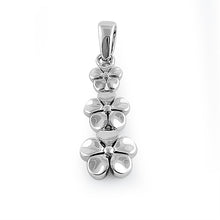 Load image into Gallery viewer, Sterling Silver Triple Plumeria Pendant