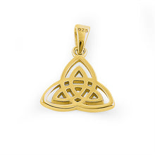 Load image into Gallery viewer, Sterling Silver Gold Plated Triquetra Pendant