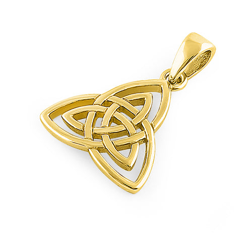 Sterling Silver Gold Plated Triquetra Pendant
