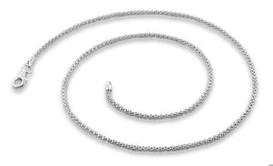 Sterling Silver Popcorn Chain Necklace 1.8MM