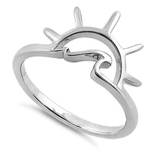 Load image into Gallery viewer, Sterling Silver Sun & Wave Ring