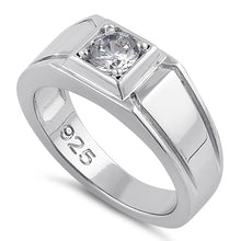 Load image into Gallery viewer, Sterling Silver Elegant Carved Engagement Ring