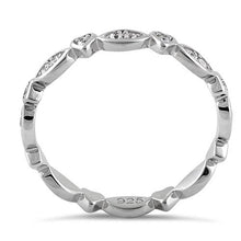 Load image into Gallery viewer, Sterling Silver Eternity Heart & Oval Clear CZ Ring