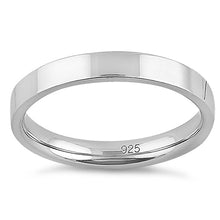 Load image into Gallery viewer, Sterling Silver 3MM Flat Wedding Band