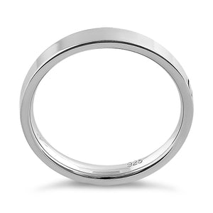 Sterling Silver 3MM Flat Wedding Band