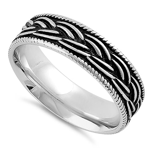 Sterling Silver Braid Pattern Band