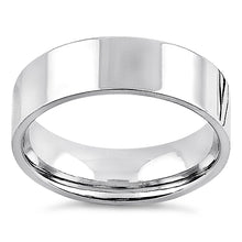 Load image into Gallery viewer, Sterling Silver 6MM Flat Wedding Band