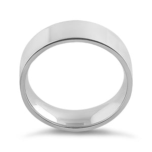 Sterling Silver 6MM Flat Wedding Band