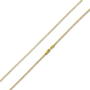 14K Gold Plated Sterling Silver Rollo Chain 1.8MM