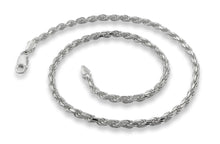 "Load image into Gallery viewer, Sterling Silver 8"" Rope Chain Bracelet - 4.5MM"