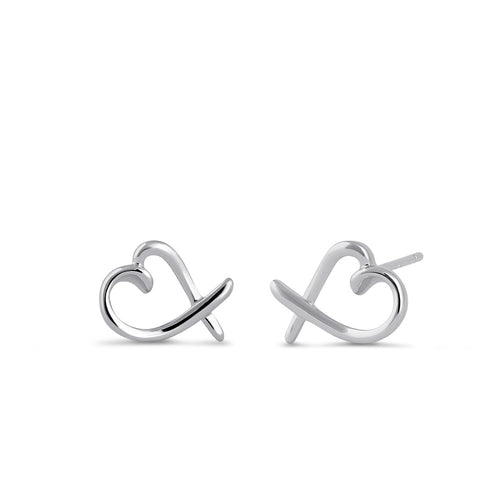 Sterling Silver Heart Design Earrings
