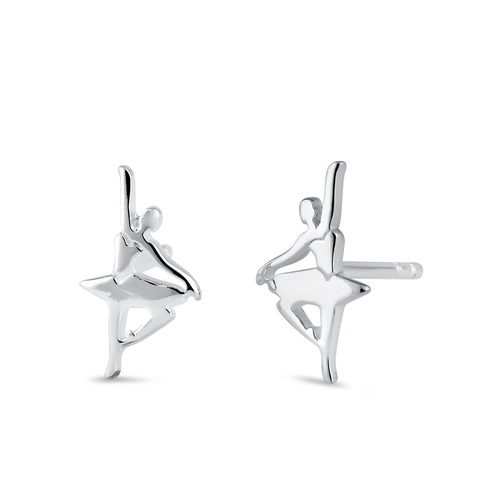 Sterling Silver Balleria Stud Earrings