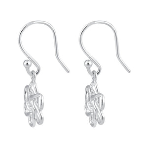 Sterling Silver Atom Dangle Earrings