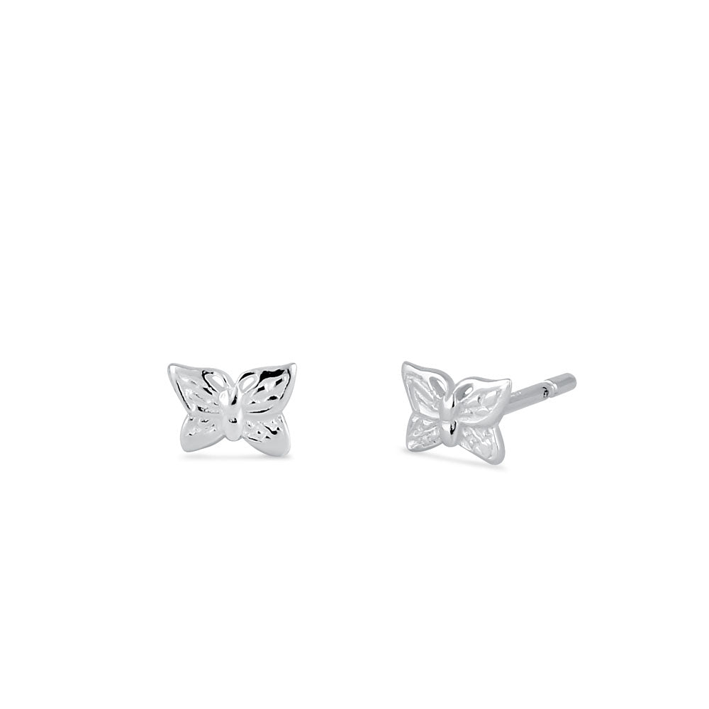 Sterling Silver Small Butterfly Stud Earrings