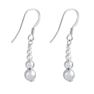 Sterling Silver Bead Tier Earrings