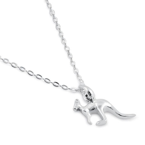 Sterling Silver Kangaroo Necklace