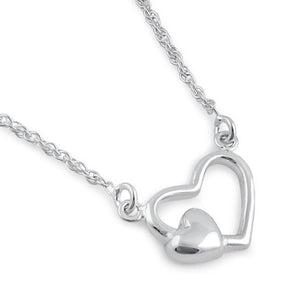 Sterling Silver Mother's Heart Necklace